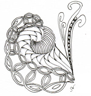 Zentangle art by Sadelle Wiltshire