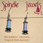 Double Bobbin Hematite Blue