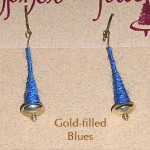 Gold Filled Earrings - Blue
