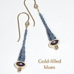 Gold-filled Earrings - Blue