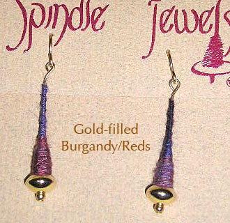 Gold Filled Burgandy/Reds - 2 Tone